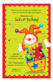 Clown in the Box Invitation