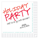Cocktail Napkin Holiday Invitation