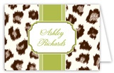 Cocoa Cheetah Folded Note Card
