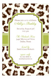 Cocoa Cheetah Invitation