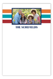 Color Block Photo Flat Note Card