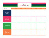 Color Block Weekly Calendar Pad