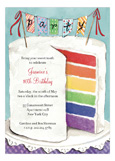 Colorful Cake Birthday Invitation