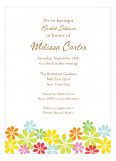 Colorful Gerber Daisy Spring Invitation