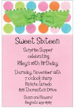 Colorful Dots Invitation