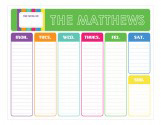 Colors of the Rainbow Weekly Calendar Pad
