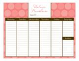 Colossal Dots Calendar Pad