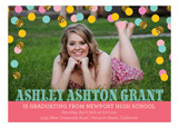 Confetti Glitter Grad Photo Card