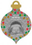 Confetti Glitter Ornament Photo Card