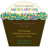 Confetti Sprinkles Cupcake Invitation
