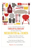 Cook Out Silhouettes Invitation