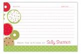 Cookie Display Recipe Card