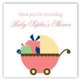 Coral Carriage Gifts Square Sticker