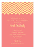 Coral Chevron Invitation