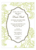 Coral Green Invitation