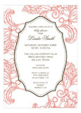 Coral Pink Invitation