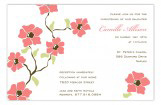 Coral Poppies Invitation