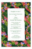 Coral Ribbon Invitation