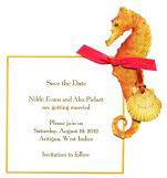 Coral Sea Horse Invitation