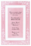 Counterpane Pink Invitation