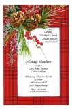 Country Pine Winter Party Invitations