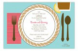 Country Supper Tabletop Invitation