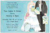 Blue Gifts Couples Wedding Shower Invitations