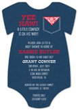 Cutie Onesie Cowboy Baby Shower Invitations