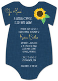 Cowgirl Cutie Onesie Invitation