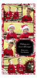Cranberry Damask Collage Photo Card
