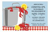 Crawfish Gleam Invitation