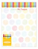 Crayon Colors Large Personalized Notepads