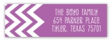 Crazy About Chevron Radiant Orchid Address Label