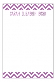 Crazy About Chevron Radiant Orchid Flat Note Card