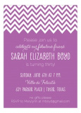 Crazy About Chevron Radiant Orchid Invitation