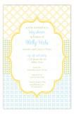 Crazy Quilt Blue Invitation