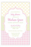 Crazy Quilt Pink Invitation