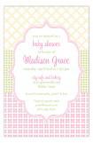 Crazy Quilt Pink Invitation