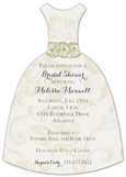 Cream Embroidery with Flowers Invitation