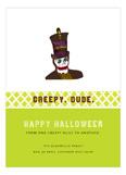 Creepy Dude Greeting Card