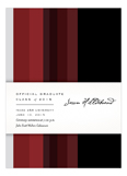 Crimson Stripes Invitation
