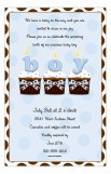 Cupcakes Boy Invitation