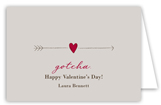 Cupids Arrow Folded Valentine Card