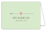Cupids Arrow Mint Folded Valentine Card