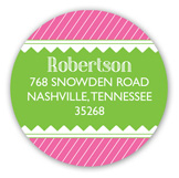 Cute as a Button Pink Baby Shower Round Sticker