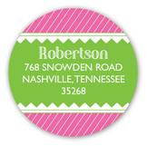 Cute as a Button Pink Baby Shower Round Sticker