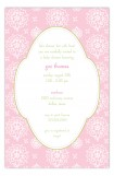 Cute Pink Floral Invitation