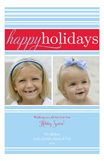 Deck The Halls Blue Photo Card