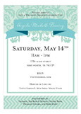 Delightful Damask Green Invitation