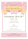 Delightful Damask Pink Invitation